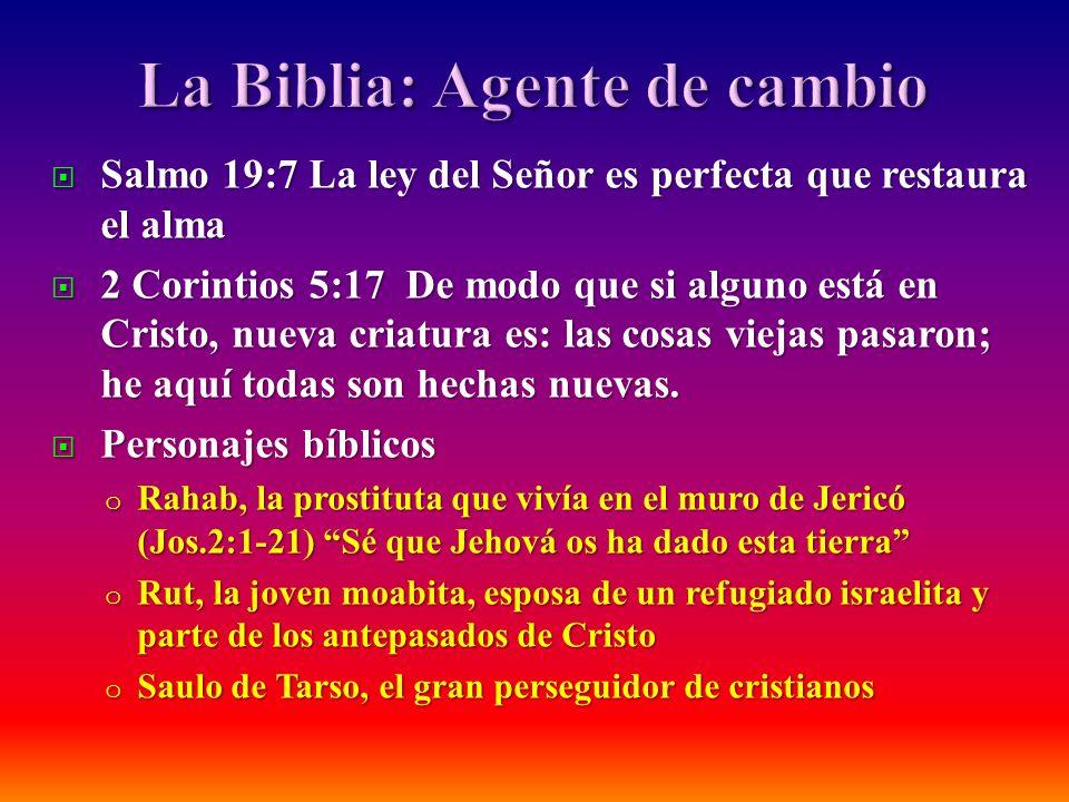Salmo 19:7 La ley del Señor es perfecta que restaura el alma Salmo 19:7 La ley del Señor es perfecta que restaura el alma 2 Corintios 5:17 De modo que
