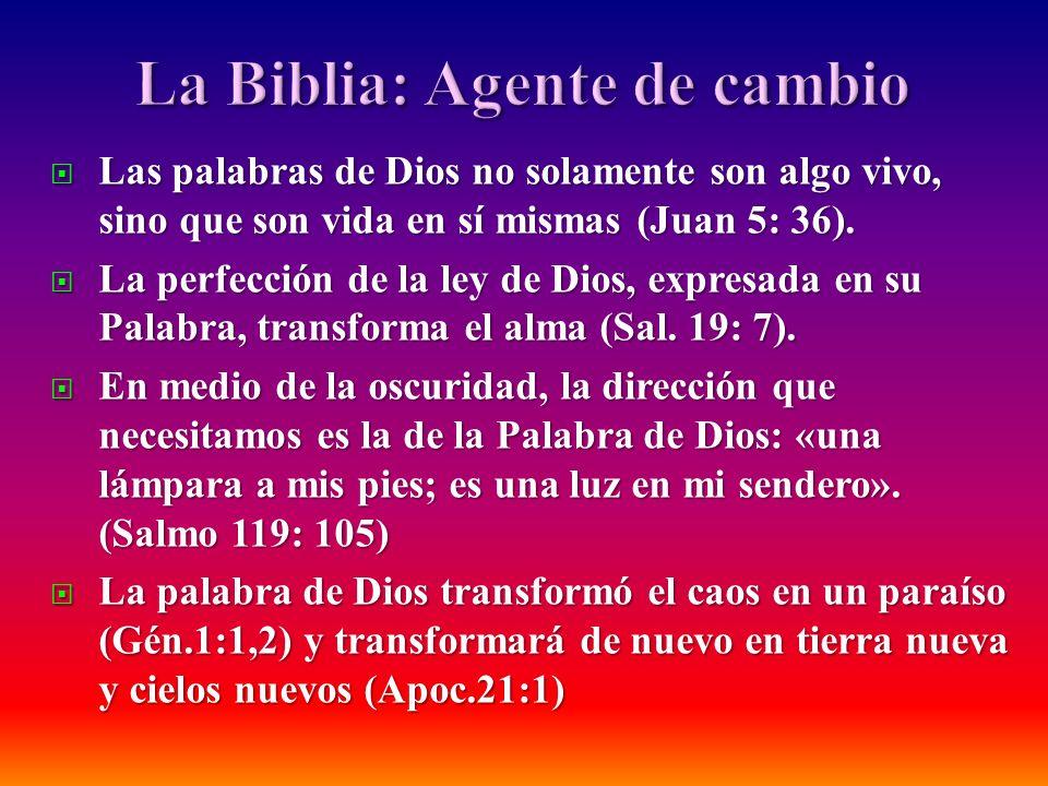 Las palabras de Dios no solamente son algo vivo, sino que son vida en sí mismas (Juan 5: 36). Las palabras de Dios no solamente son algo vivo, sino qu