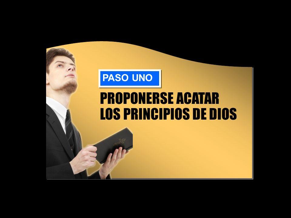 PROPONERSE ACATAR LOS PRINCIPIOS DE DIOS PASO UNO