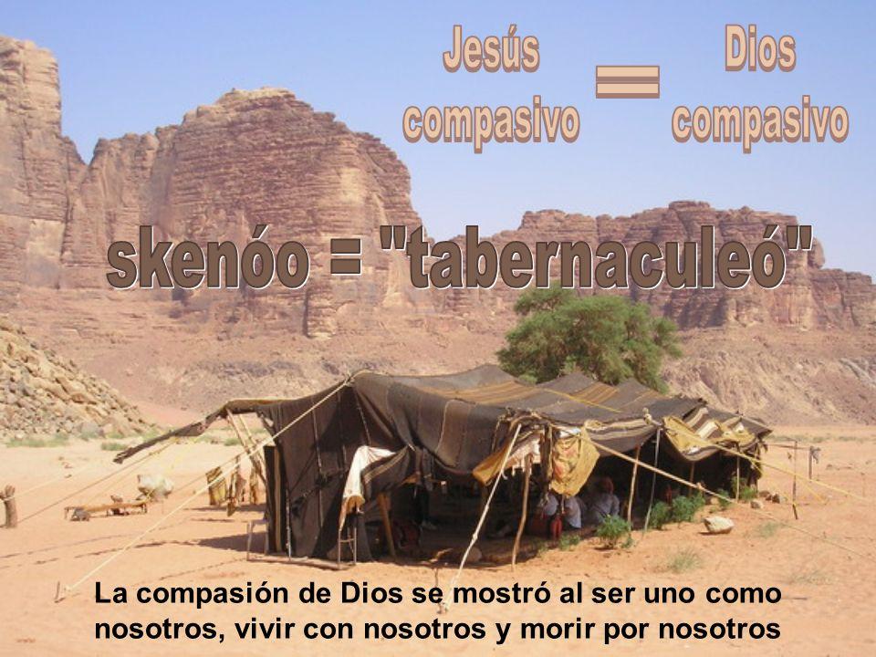 La compasión de Dios se mostró al ser uno como nosotros, vivir con nosotros y morir por nosotros