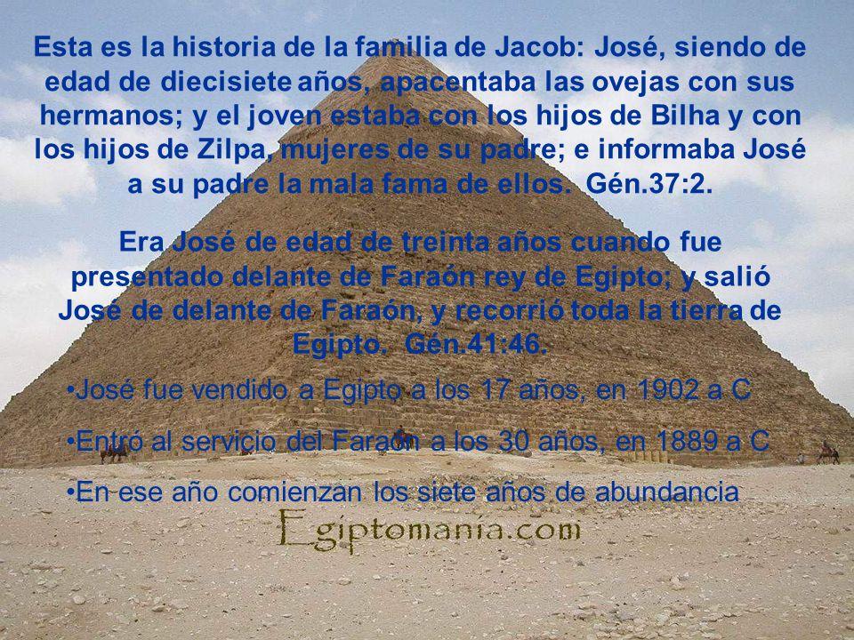 Esta es la historia de la familia de Jacob: José, siendo de edad de diecisiete años, apacentaba las ovejas con sus hermanos; y el joven estaba con los