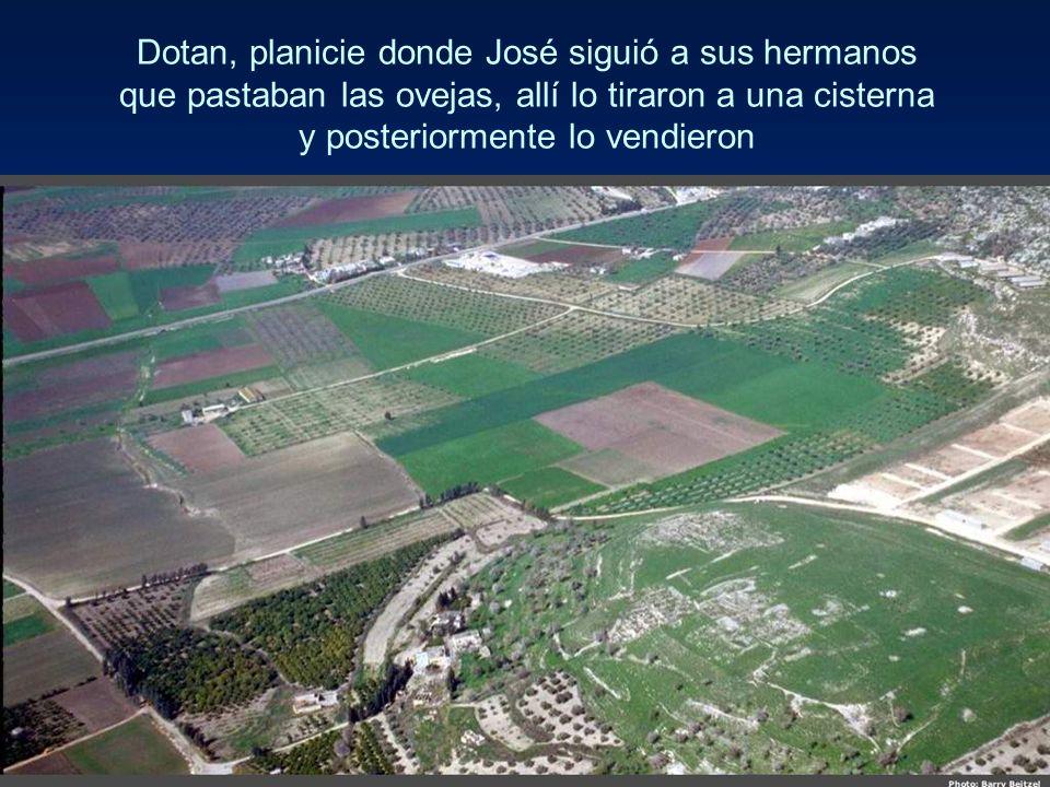 Dotan, planicie donde José siguió a sus hermanos que pastaban las ovejas, allí lo tiraron a una cisterna y posteriormente lo vendieron