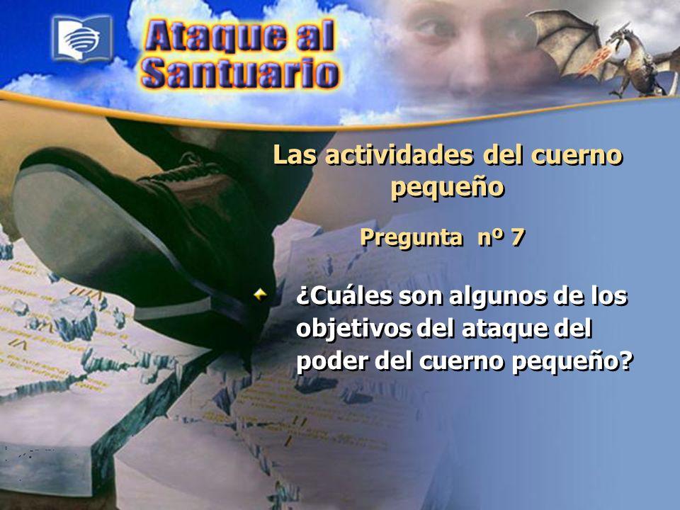 Las actividades del cuerno pequeño Pregunta nº 7 ¿Cuáles son algunos de los objetivos del ataque del poder del cuerno pequeño?