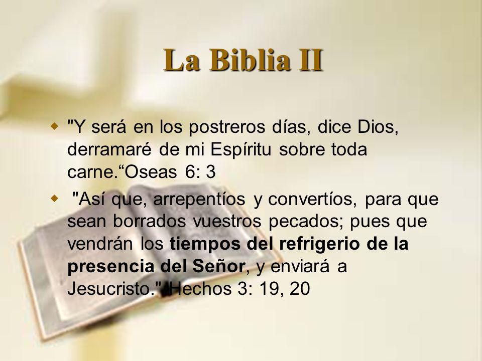 La Biblia II
