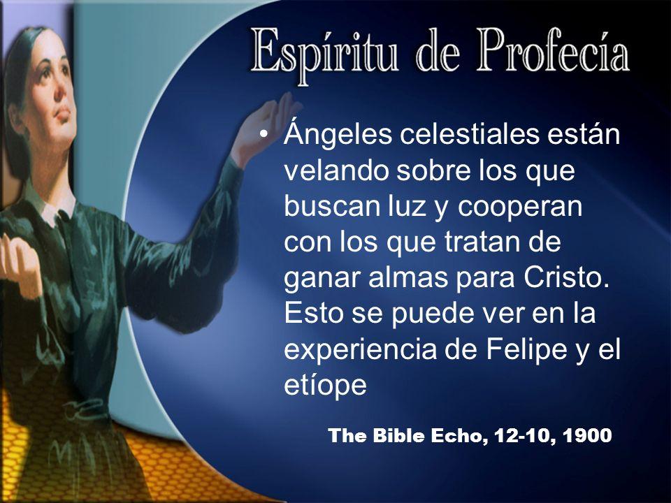 The Bible Echo, 12-10, 1900 Ángeles celestiales están velando sobre los que buscan luz y cooperan con los que tratan de ganar almas para Cristo.