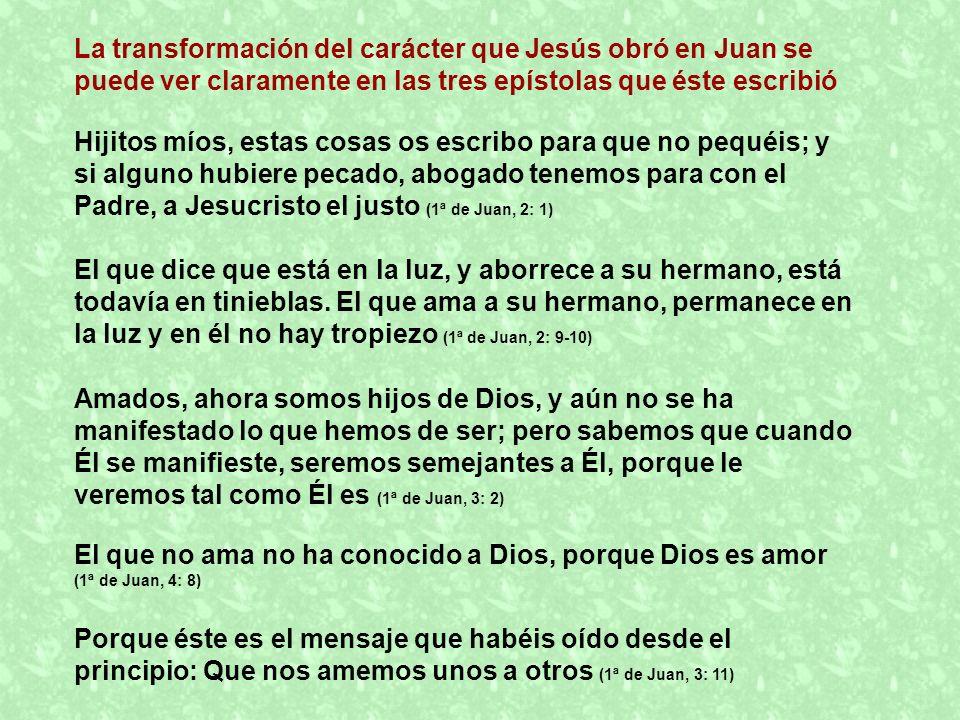 El que no ama no ha conocido a Dios, porque Dios es amor (1ª de Juan, 4: 8) Hijitos míos, estas cosas os escribo para que no pequéis; y si alguno hubi