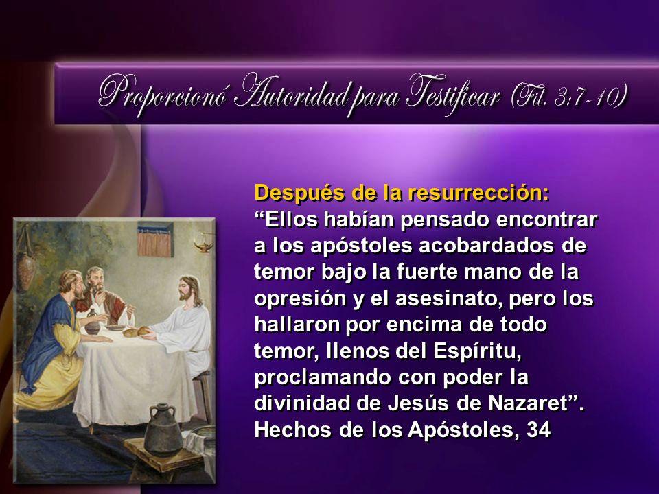 Después de la resurrección:Ellos habían pensado encontrar a los apóstoles acobardados de temor bajo la fuerte mano de la opresión y el asesinato, pero