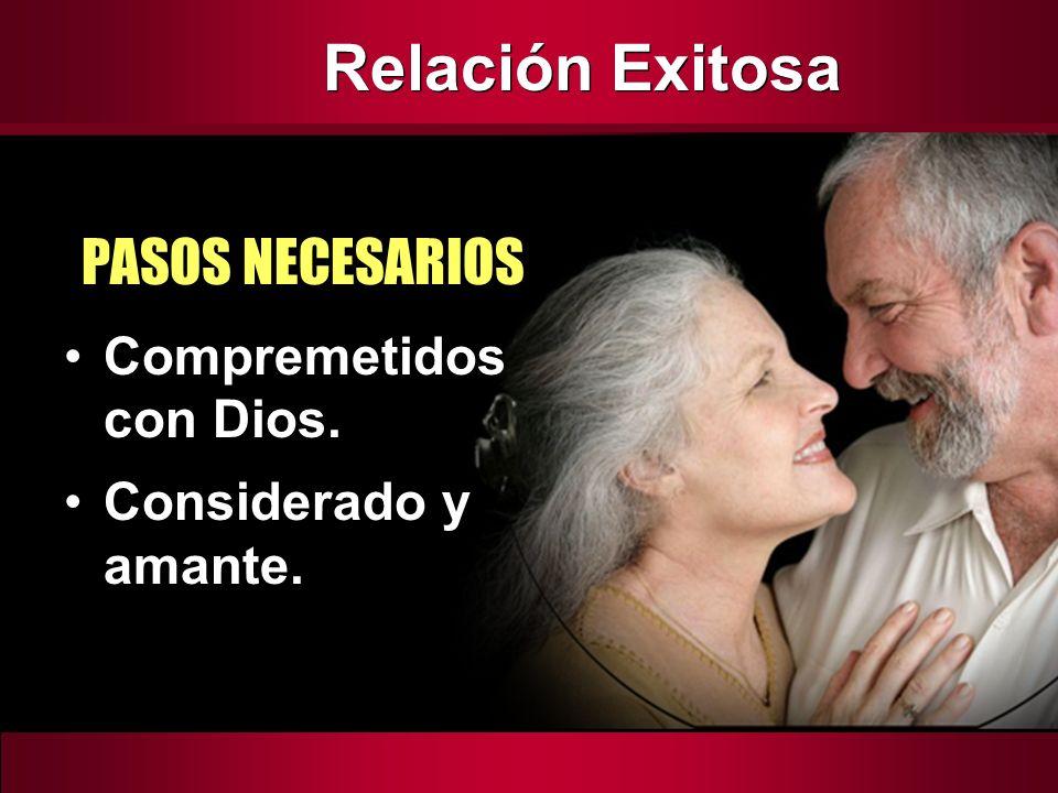Relación Exitosa PASOS NECESARIOS Compremetidos con Dios. Considerado y amante.