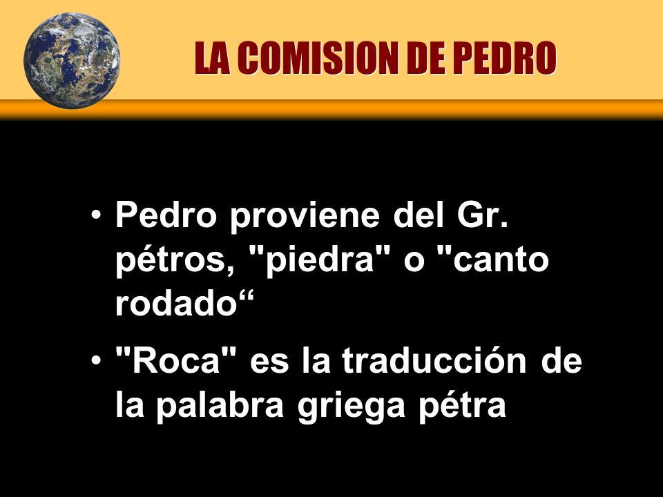 Pedro proviene del Gr. pétros,