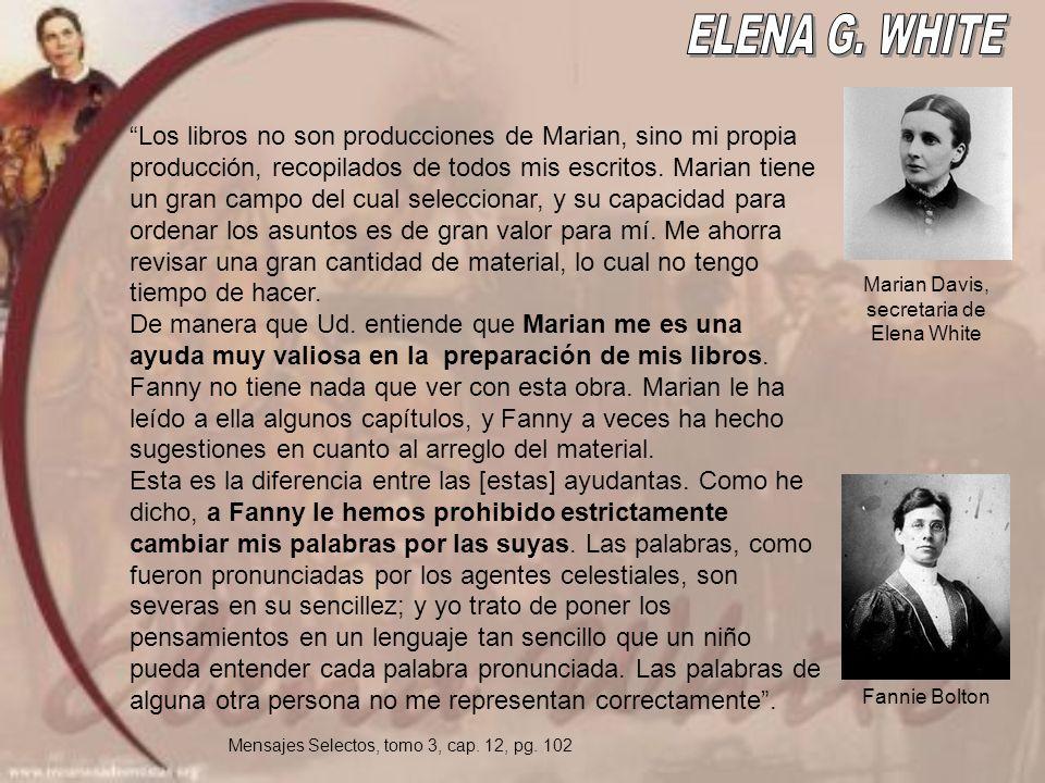 Los libros no son producciones de Marian, sino mi propia producción, recopilados de todos mis escritos.