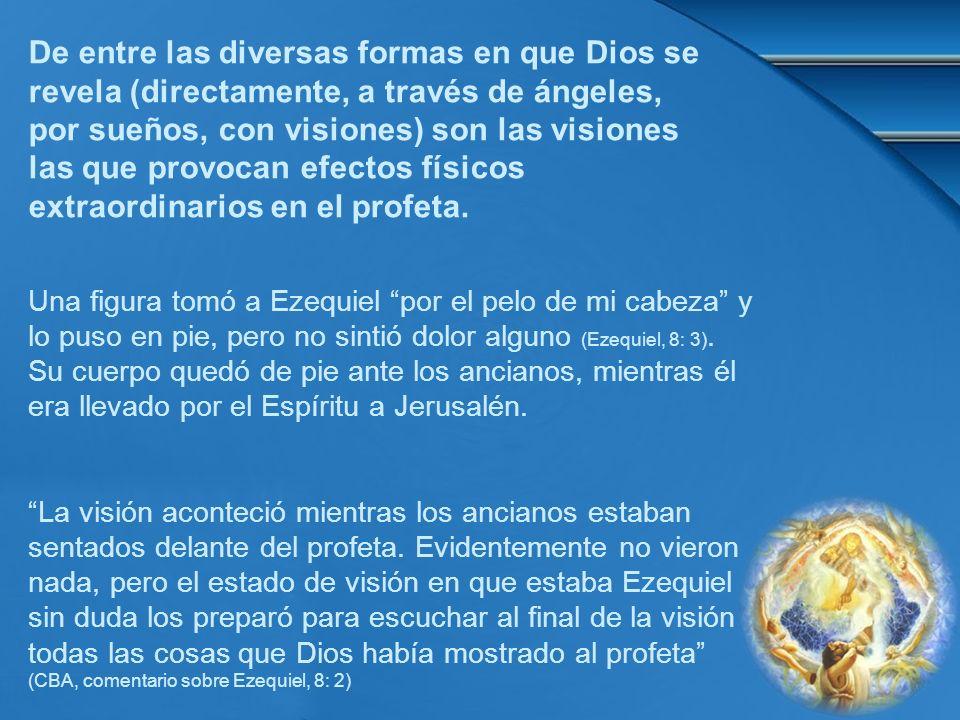 De entre las diversas formas en que Dios se revela (directamente, a través de ángeles, por sueños, con visiones) son las visiones las que provocan efectos físicos extraordinarios en el profeta.