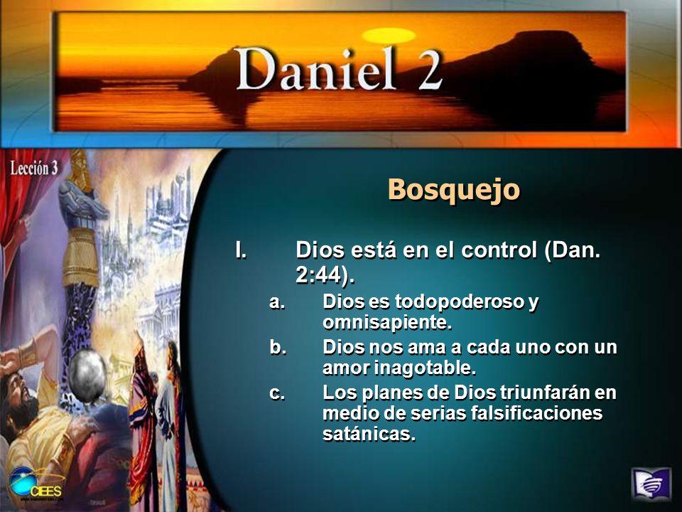 Lee Daniel 2:26 al 45, y escribe un resumen del sueño y de su interpretación.