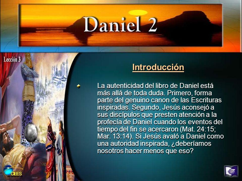 Introducción Esta semana, comenzamos una serie de estudios de Daniel en su relación con el plan divino de la historia y la manera en que concluirá este plan.