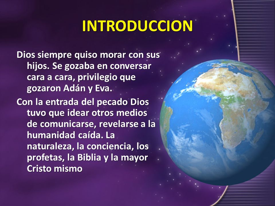 I.-LA REVELACION GENERAL También llamada revelación natural.