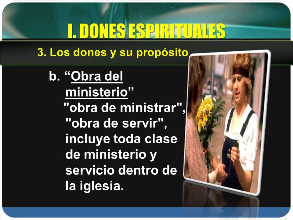 b. Obra del ministerio