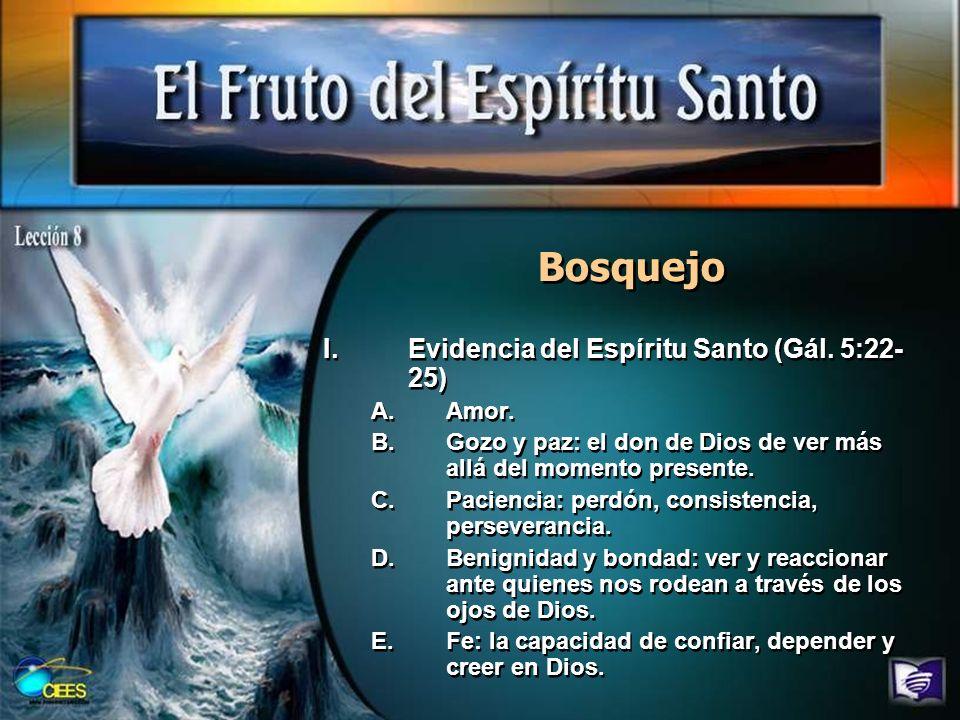 Bosquejo II.La fe: el don y el fruto del Espíritu Santo (Efe.