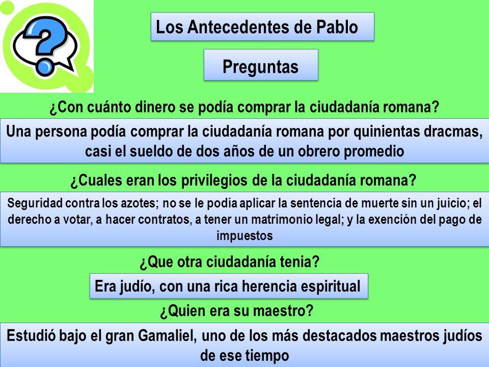 ¿Qué aspectos de tu vida (nacionalidad, educación, crianza, etc.) pueden servirte en forma especial al testificar.