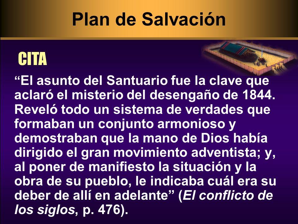 El asunto del Santuario fue la clave que aclaró el misterio del desengaño de 1844. Reveló todo un sistema de verdades que formaban un conjunto armonio