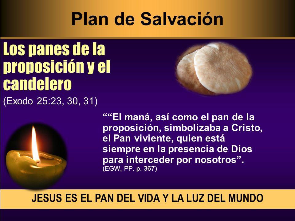 El maná, así como el pan de la proposición, simbolizaba a Cristo, el Pan viviente, quien está siempre en la presencia de Dios para interceder por noso