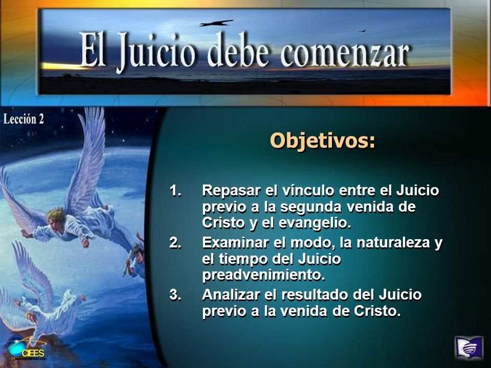 Bosquejo I.La naturaleza del Juicio previo al advenimiento (Ecl.