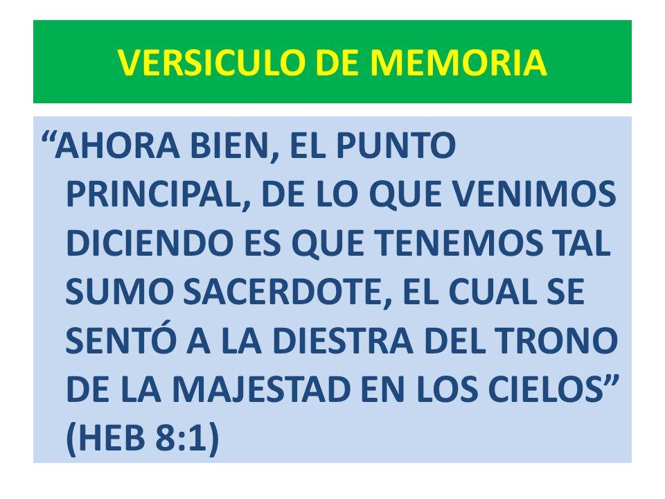 Idea Central El ministerio sacerdotal de Jesucristo es vital en el plan de salvación.