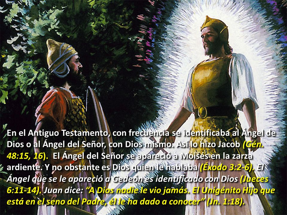 Después de la transgresión de Adán, Dios ya no habló directa- mente con el hombre; la raza humana fue entregada en manos de Cristo y toda comunicación pasó por medio de él al mundo.
