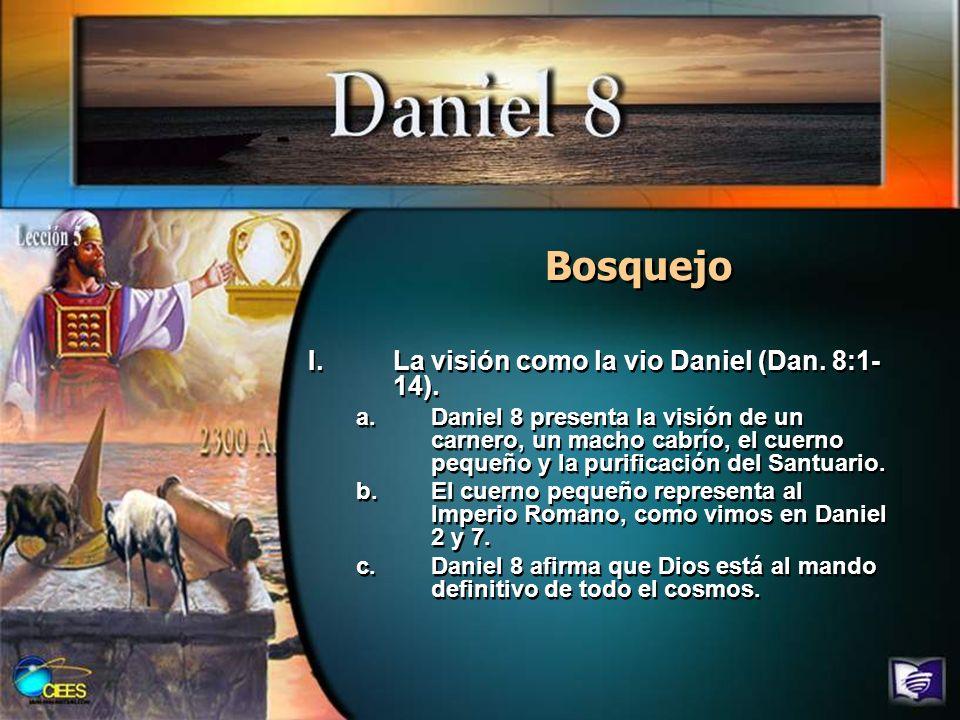 Bosquejo II.Enseña a éste la visión (Dan.8:15- 19).