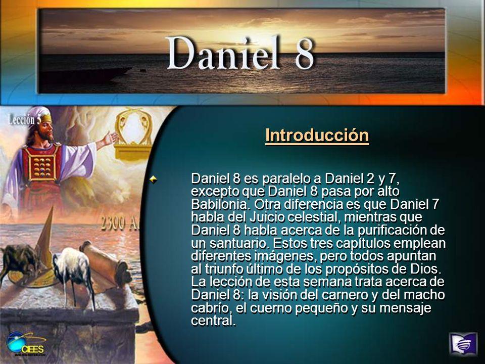 Lee Daniel 8:1 al 14.Has un breve resumen de la visión.