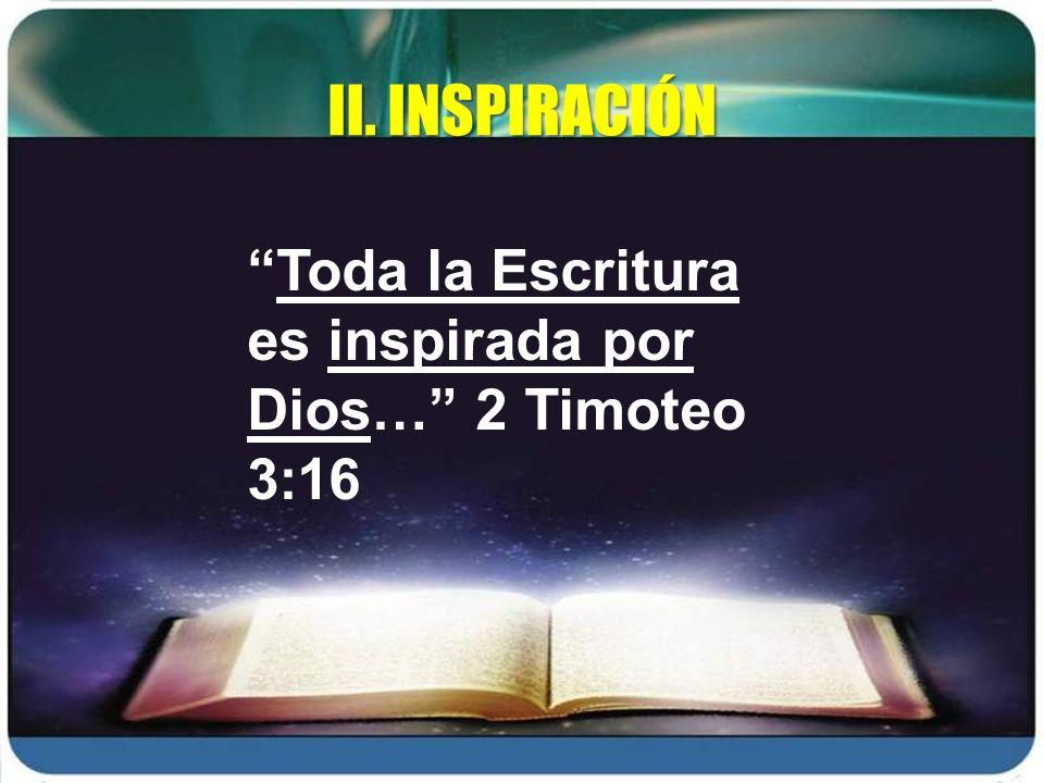 La inspiración y el uso de fuentes II.INSPIRACIÓN Pablo - Epiménides 600 A.C.
