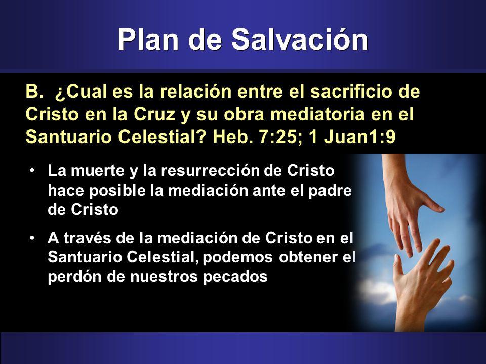 Plan de Salvación La muerte y la resurrección de Cristo hace posible la mediación ante el padre de Cristo A través de la mediación de Cristo en el San