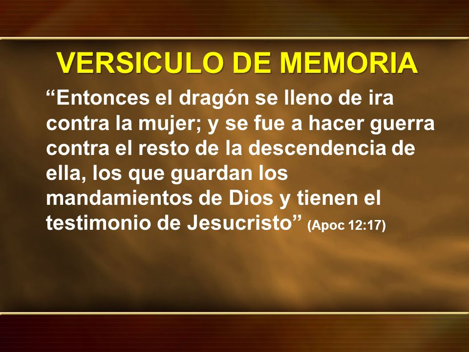 IDEA CENTRAL El testimonio de Jesús y el espíritu de la profecía es la manifestaciones del propósito de Dios de revelarse a su iglesia, desde el AT hasta Jesús y desde la iglesia cristiana hasta nuestros días, en el remanente.
