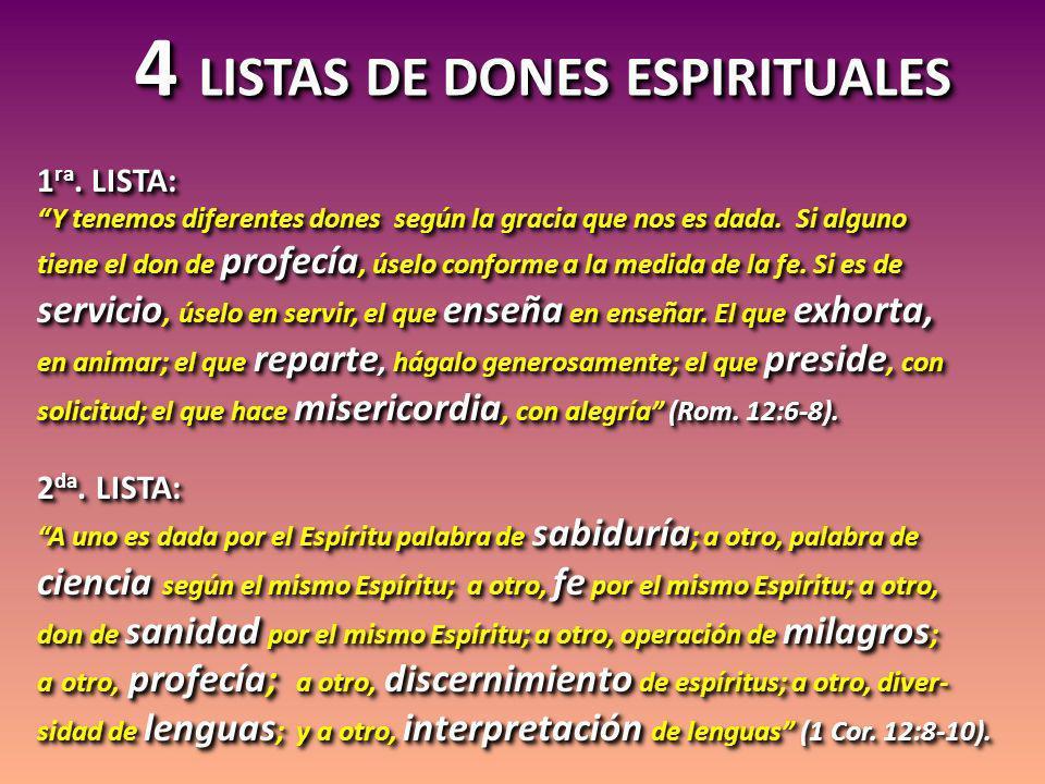 2 puntos importantes acerca de los dones espirituales espurios: 2 puntos importantes acerca de los dones espirituales espurios: 1)Esas falsas manifestaciones pue- den también ser hechas por los profesos seguidores de Jesús.