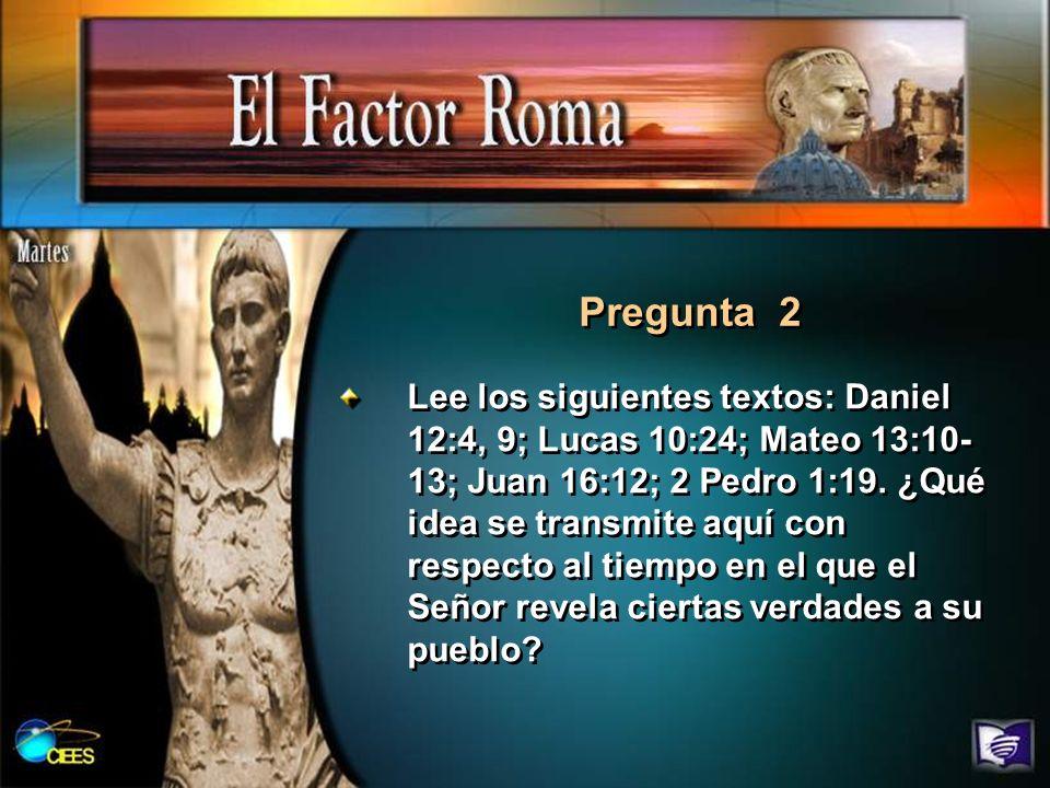 Lee los siguientes textos: Daniel 12:4, 9; Lucas 10:24; Mateo 13:10- 13; Juan 16:12; 2 Pedro 1:19. ¿Qué idea se transmite aquí con respecto al tiempo