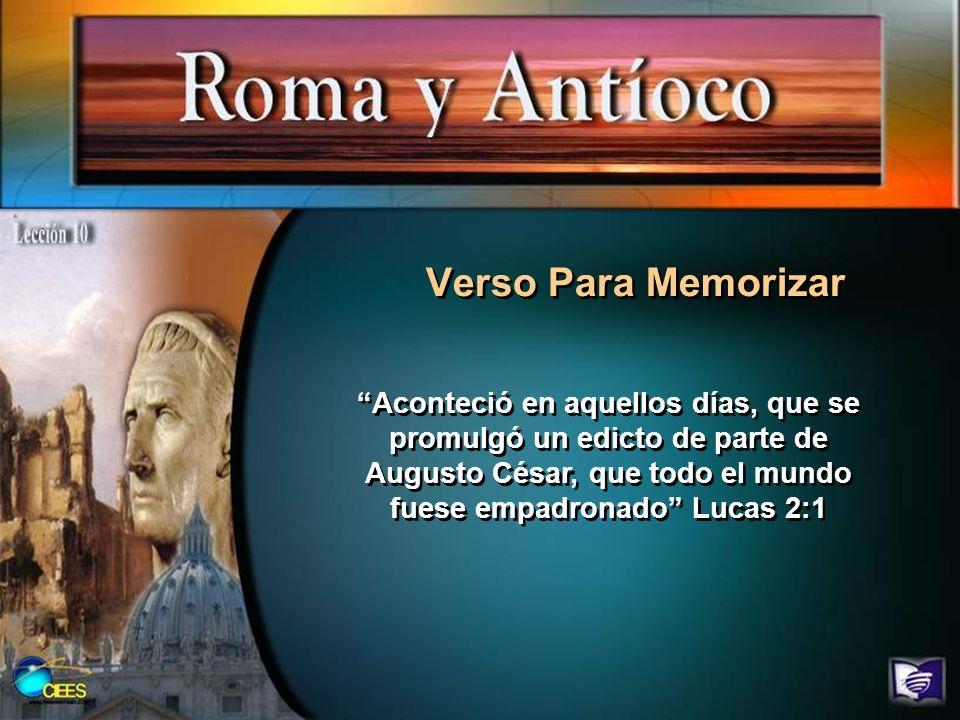 Verso Para Memorizar Aconteció en aquellos días, que se promulgó un edicto de parte de Augusto César, que todo el mundo fuese empadronado Lucas 2:1