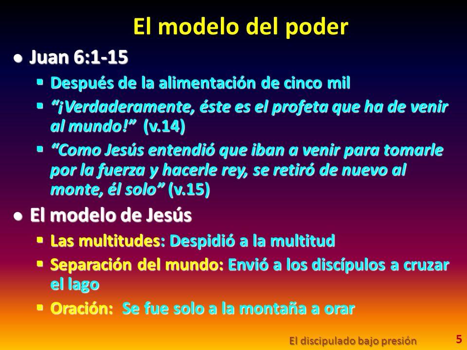 El modelo del poder Juan 6:1-15 Juan 6:1-15 Después de la alimentación de cinco mil Después de la alimentación de cinco mil ¡Verdaderamente, éste es el profeta que ha de venir al mundo.