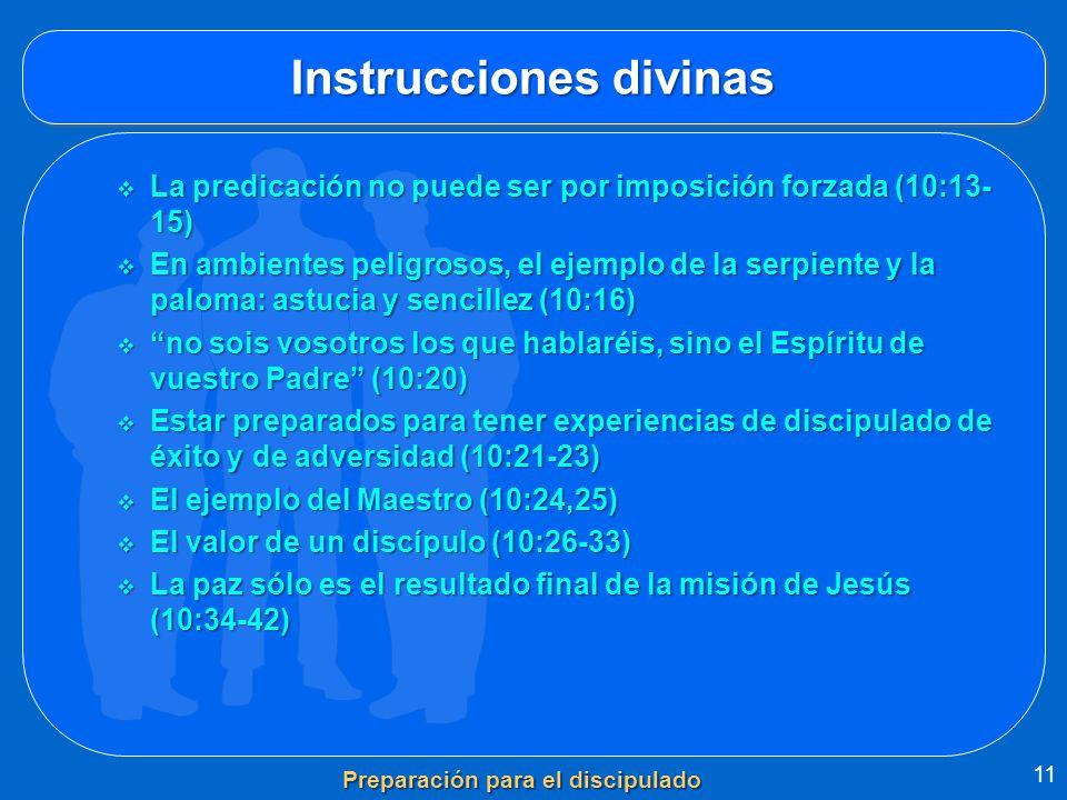 Instrucciones divinas La predicación no puede ser por imposición forzada (10:13- 15) La predicación no puede ser por imposición forzada (10:13- 15) En