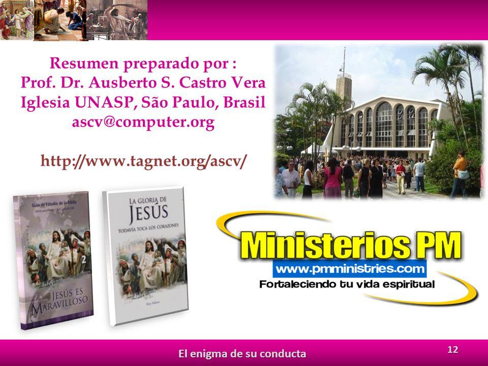 12 Resumen preparado por : Prof.Dr. Ausberto S.