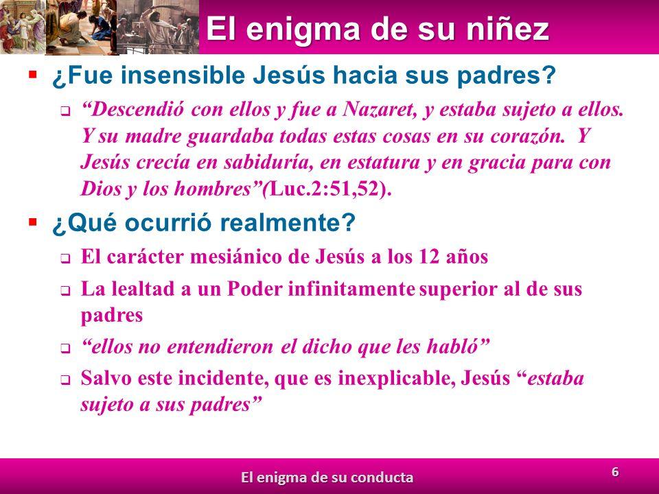 El enigma de su niñez ¿Fue insensible Jesús hacia sus padres.