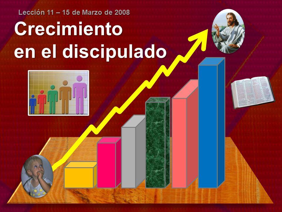 Crecimiento en el discipulado Lección 11 – 15 de Marzo de 2008