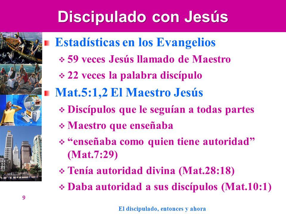 Discipulado con Jesús Estadísticas en los Evangelios 59 veces Jesús llamado de Maestro 22 veces la palabra discípulo Mat.5:1,2 El Maestro Jesús Discíp