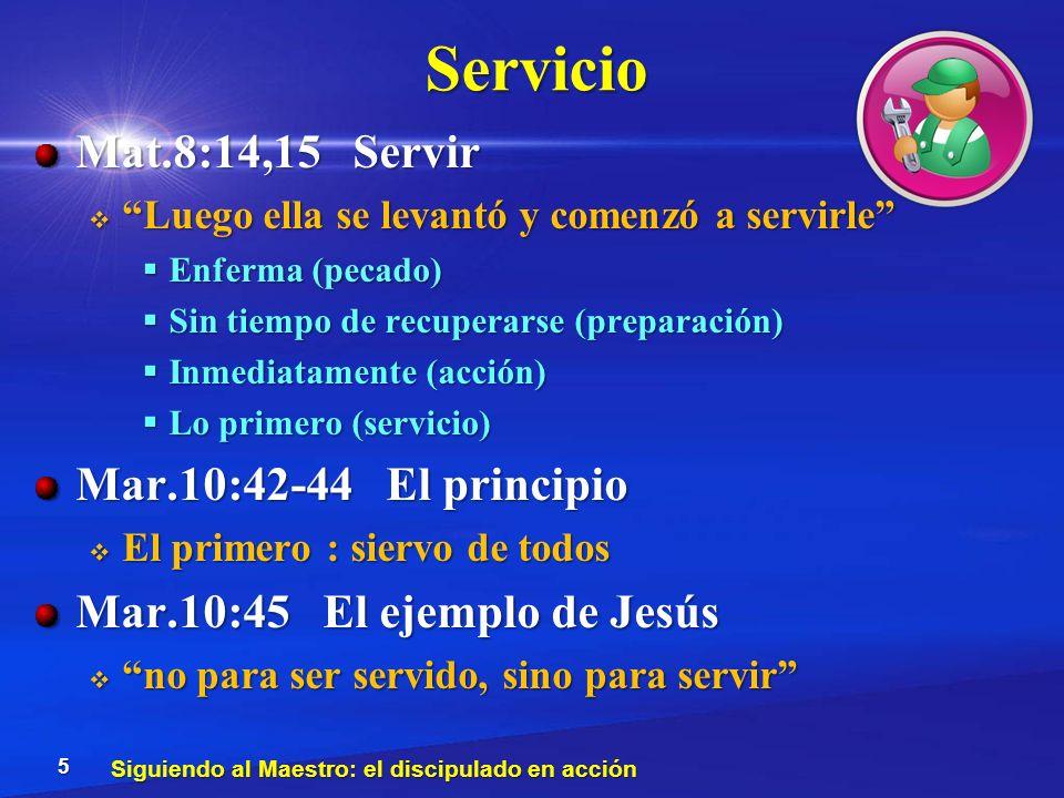 Servicio Mat.8:14,15 Servir Luego ella se levantó y comenzó a servirle Luego ella se levantó y comenzó a servirle Enferma (pecado) Enferma (pecado) Si
