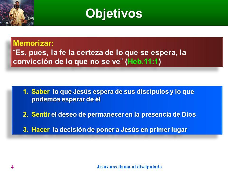Bosquejo Jesús nos llama al discipulado 5 LosPrimerosllamadosLosPrimerosllamadosLevíMateoLevíMateoNuestrollamadoNuestrollamado Mar.2:14Heb.11:1Juan 1:35-51