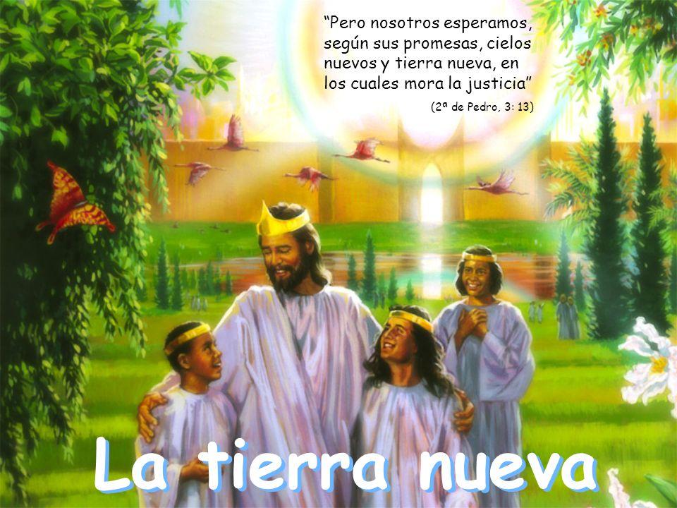 La tierra nueva Pero nosotros esperamos, según sus promesas, cielos nuevos y tierra nueva, en los cuales mora la justicia (2ª de Pedro, 3: 13)