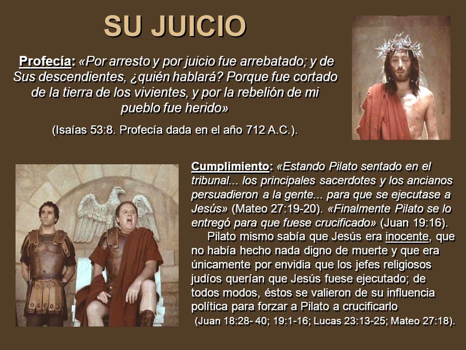 SU TRAICIÓN SU TRAICIÓN Profecía: Zacarías predijo en el año 487 A.C. : «Y les dije: Si os parece bien, dadme mi salario; y si no, dejadlo. Y pesaron