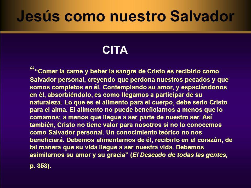 Comer la carne y beber la sangre de Cristo es recibirlo como Salvador personal, creyendo que perdona nuestros pecados y que somos completos en él. Con