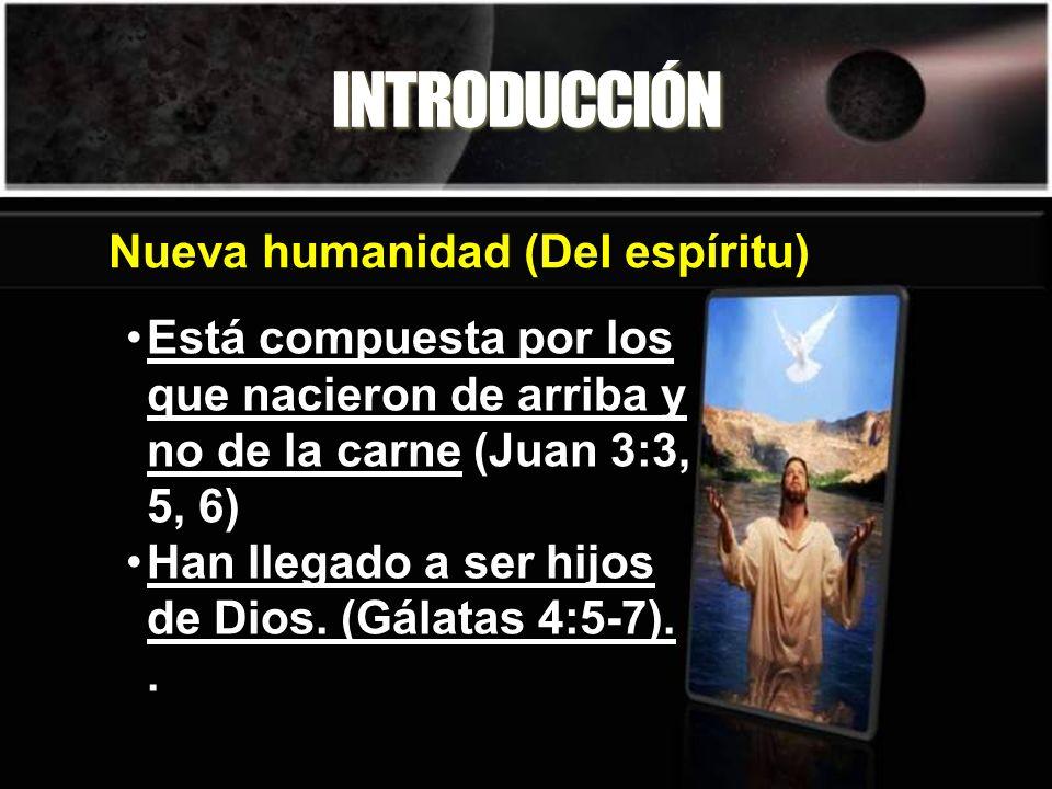 INTRODUCCIÓN Está compuesta por los que nacieron de arriba y no de la carne (Juan 3:3, 5, 6) Han llegado a ser hijos de Dios.