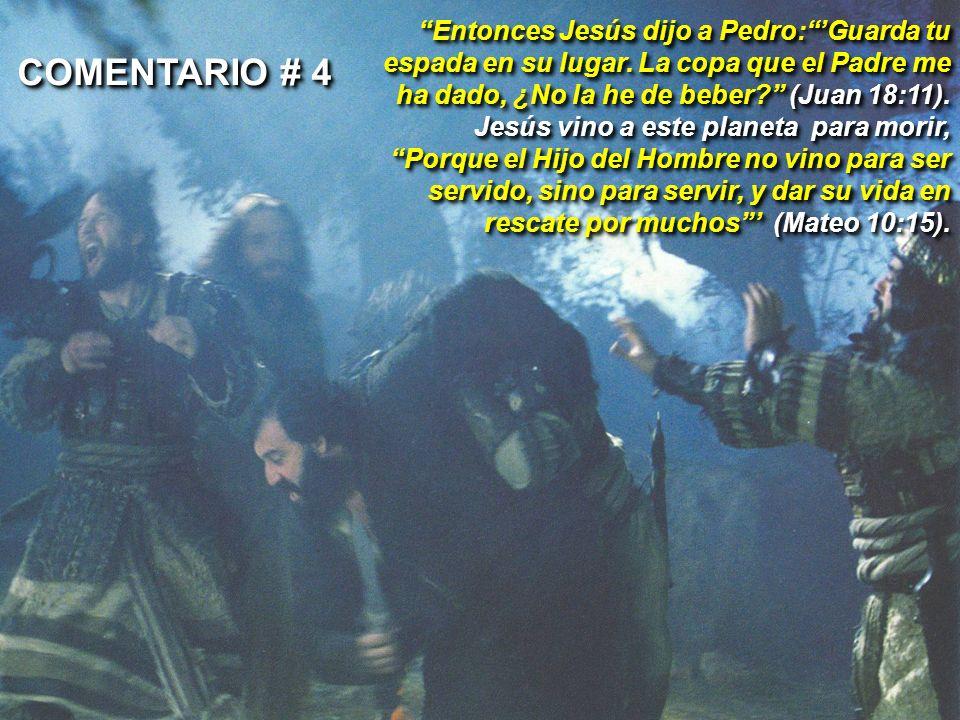 Entonces Jesús dijo a Pedro:Guarda tu espada en su lugar. La copa que el Padre me ha dado, ¿No la he de beber? (Juan 18:11). Jesús vino a este planeta