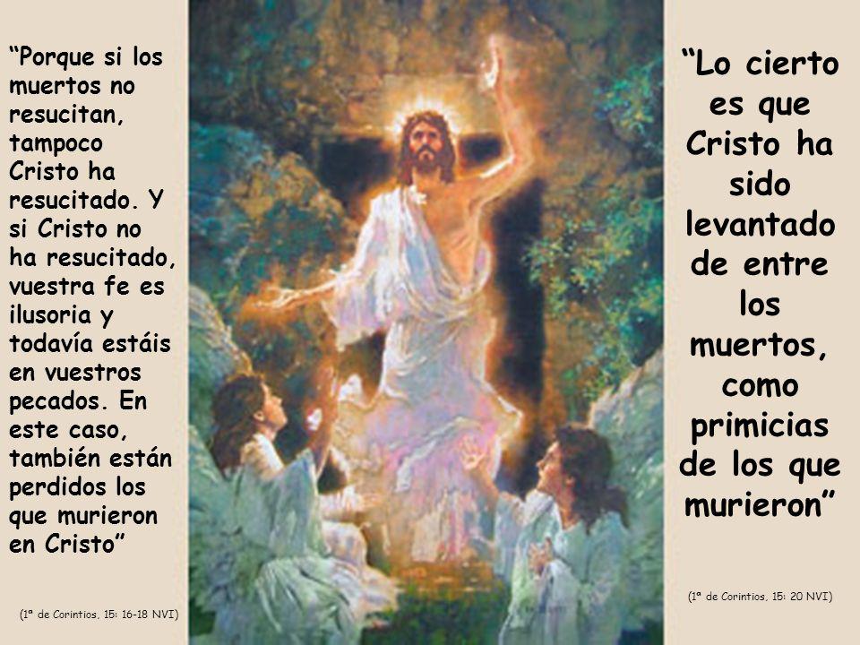 Porque si los muertos no resucitan, tampoco Cristo ha resucitado. Y si Cristo no ha resucitado, vuestra fe es ilusoria y todavía estáis en vuestros pe