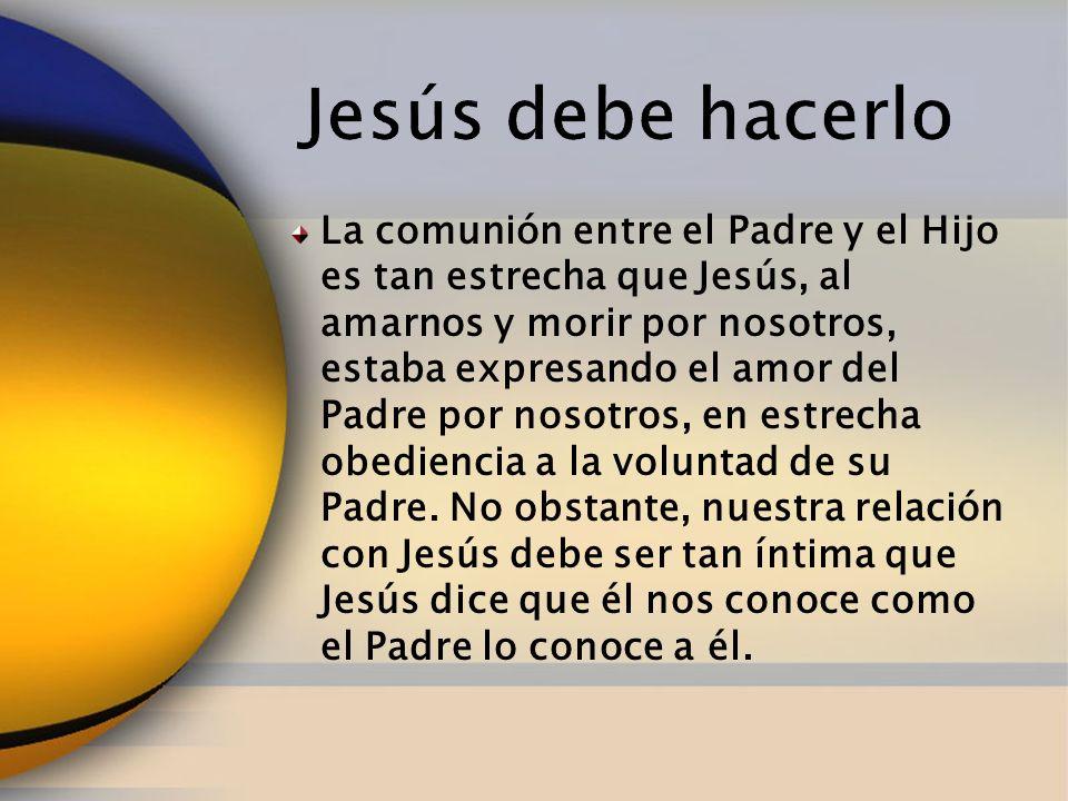 La comunión entre el Padre y el Hijo es tan estrecha que Jesús, al amarnos y morir por nosotros, estaba expresando el amor del Padre por nosotros, en