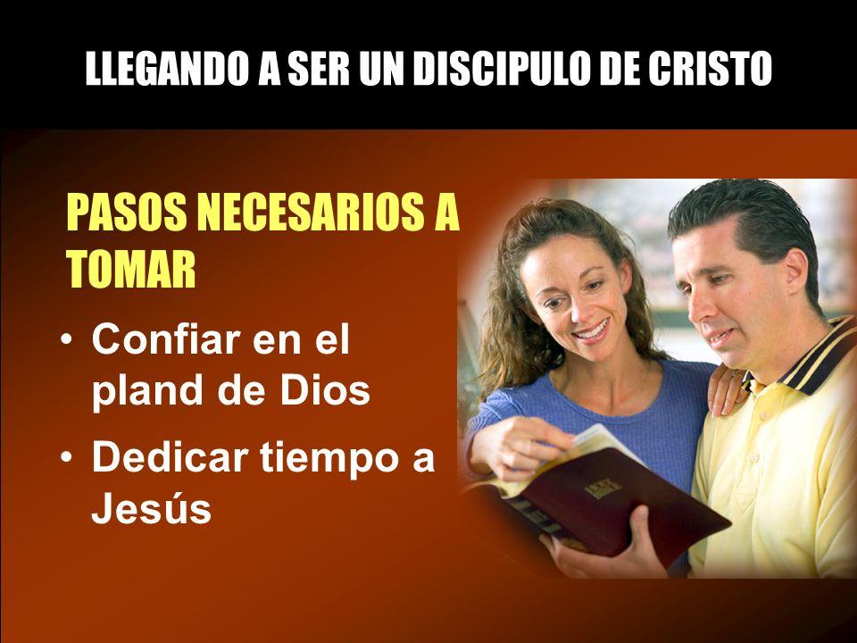 LLEGANDO A SER UN DISCIPULO DE CRISTO PASOS NECESARIOS A TOMAR Confiar en el pland de Dios Dedicar tiempo a Jesús